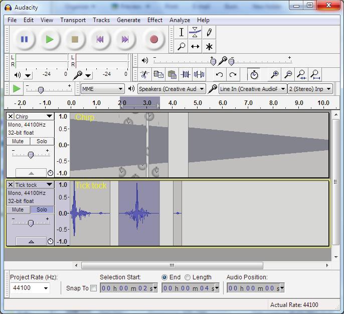 Programa bioacústica Audacity