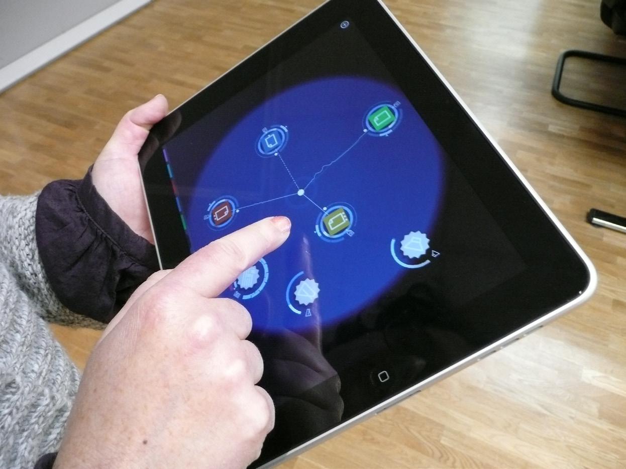tablet con app de musica electrónica